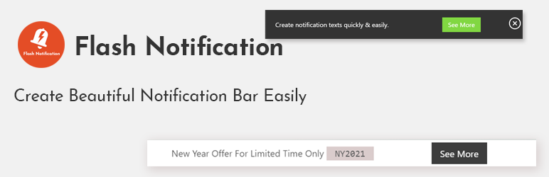 Flash Notification-Beautiful notifications with less configuration